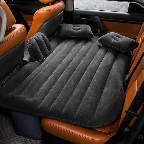 Belanto Inflatable Travel Car Bed Air Sofa with Two Inflatable Pillow and Air Pump for Car Back Seat Inflatable Air Mattress Soft Sleeping Pad Bed For Camping Travel