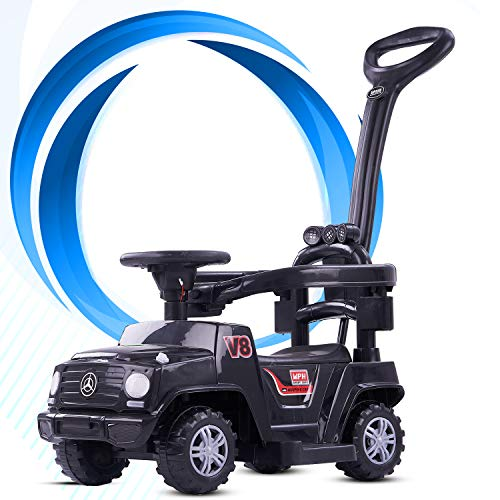 GoodLuck Baybee Baby Power Wheel Ride On Jeep Push Car for Toddlers Kids Jeep Toy Kids Rider & Baby Jeep   Kids Suitable for Boys & Girls - (Black )(1-3 Years)