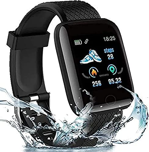 D116 for Xiaomi Mi 6 Plus Touchscreen Smart Watch Bluetooth 1.3' Smart Watch LED with Daily Activity Tracker, Heart Rate Sensor, Sleep Monitor and Basic Functionality for All Boys & Girls Wristband