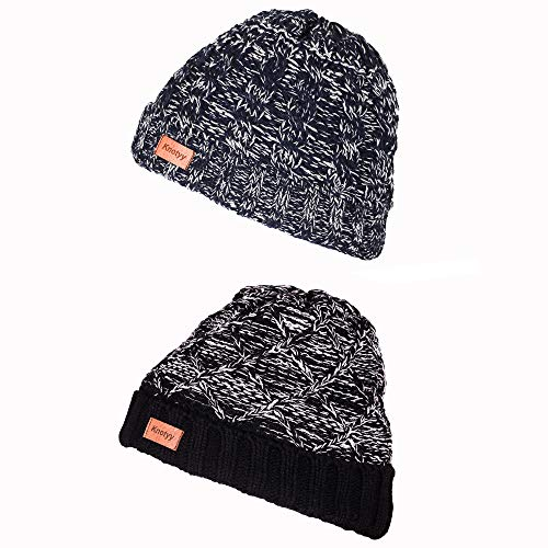 Knotyy Men's and Women's Woollen Beanie Knitted Slouchy Skull Cap Combo (Multicolour) - Pack of 2