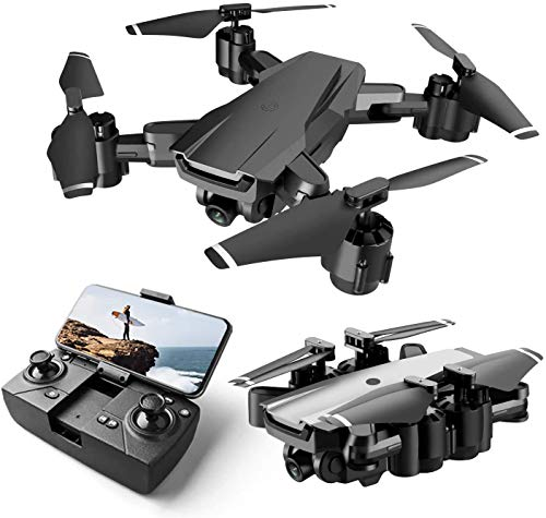 Exegi Enterprise Drone with HD Camera Live Video,WiFi FPV Drone for Adults with HD 120° Wide Angle Camera 1000 Mah Long Flight time Auto Hover Fold able RC Drone Quad-copter (Multi Colored)