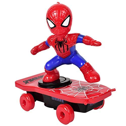 Ketmart Toys Spider-Man Electric Stunt Scooter Skateboard with Light Music Children's Funny Toy Sliding Plate