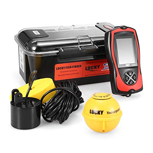 Generic FF1108-1CLA Portable Fish Finder 100M/300FT Depth Fish Alarm Wired Wireless Fish Detector