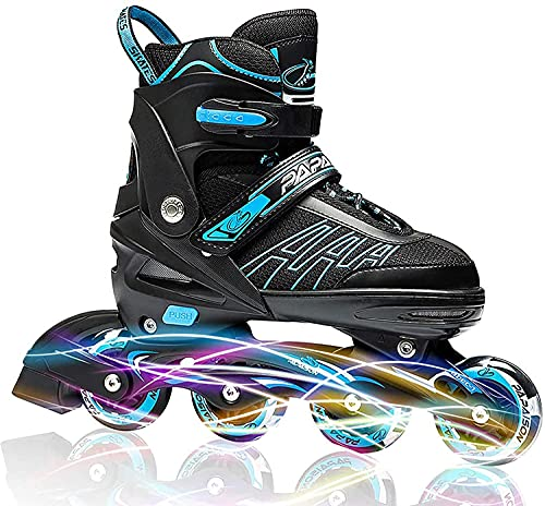 ESOTERICA Adjustable Inline Skates for Kids and Adults, Roller Skates with Featuring All Illuminating Wheels, for Girls and Boys, Men and Ladies