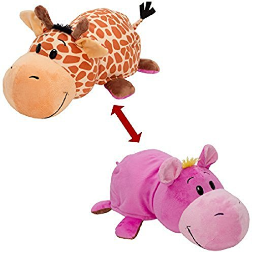 Chocozone Penguin and Giraffe 2-in-1 Stuffed Animal 16 Inch Soft Toy -Animals Soft Toys That Transform From One Animal Into Another with a Quick Flip (40 cm)
