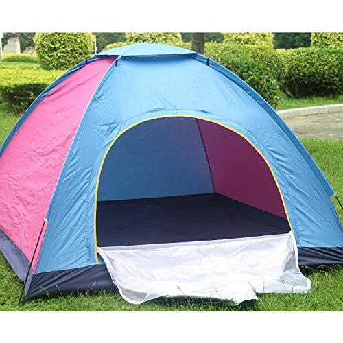 BLUE SPACE Waterproof Family Camping Tent 6 Person War Base Camping Tent, Large & Easy Set up Portable Travel, Fishing,Lake-Side Hiking, & Camping Tent 1 x Travel Carry Bag