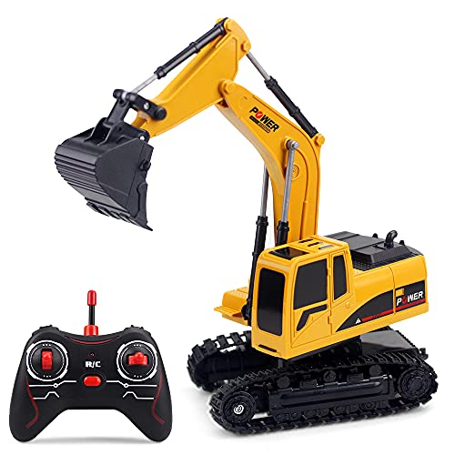 Decdeal 1/24 RC Excavator RC Car Construction Tractor Kids Toy with Lights & Sounds