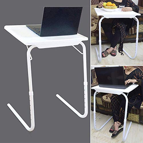 Arovemic No-1 Foldable Multi Utility Laptop Tables Mate for Laptop Dinner Study Kids Office Adjustable Folding Personal Reading Desk Lapdesk lubo Dinning Tabals Mate (Make in India) A-8