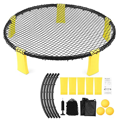 WorldCare® Mini Beach Volleyball Game Set Team Sports Beach Volleyball Net Outdoor Indoor Lawn Yard Beach Tailgate Park for Kids Adults Family-CS-A-209933