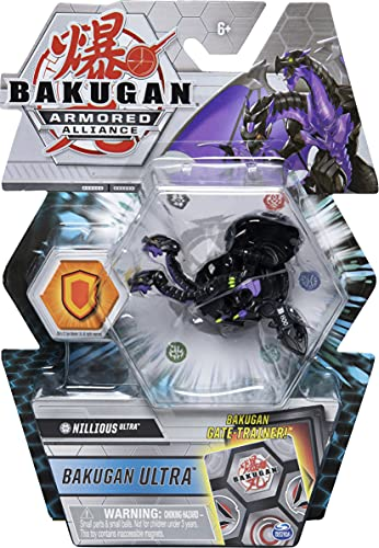 Bakugan Ultra, Darkus Nillious, Season 2 Armored Alliance - 3-inch Tall Collectible Transforming Creature, for Ages 6 and Up