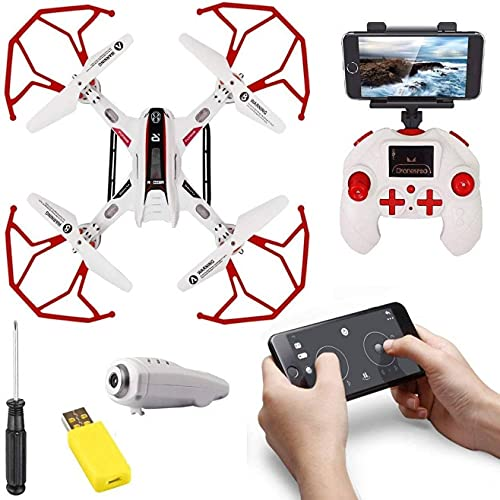 Amitasha 2.4GHz Remote Control Wi-Fi Drone with HD Camera, Headless Mode, 360 Stunt and Altitude Hold