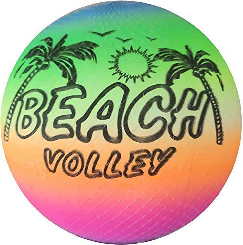 Colorful Rainbow Colour Lightweight Inflatable Beach Ball Beach Volleyball for Kids