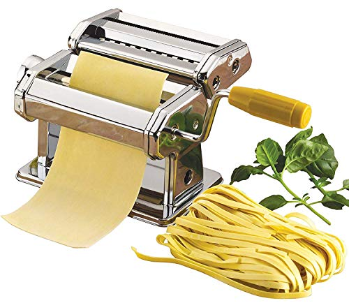 SMILE Stainless Steel Noodles Cutter Roller, Pasta Maker Machine Noodle Making Machine, Vegetable Noodle Maker Machine Tool (3 in 1)