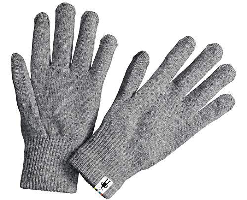 Smartwool Liner Gloves (Silver Gray Heather) Large