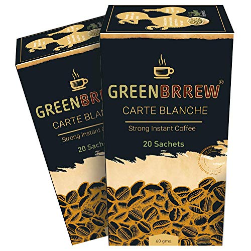 Greenbrrew Instant Green Coffee Premix for Weight Loss (Strong, 20 Sachets), 60g - (Pack Of 2)