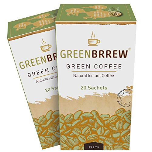 Greenbrrew Instant Green Coffee Premix for Weight Loss (Natural, 20 Sachets), 60g - (Pack Of 2)