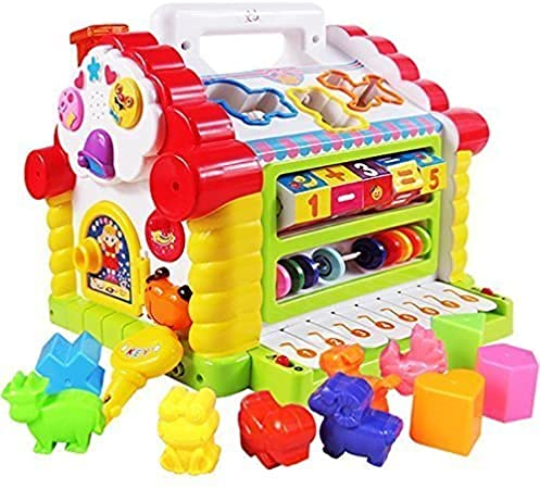 Cable World Eletronic Learning Plastic House For 1 To 3 Year Old Child(Multicolor).