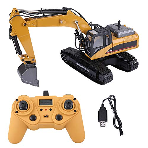 Remote Control Truck RC Excavator Toy, 1:14 2.4G 3 in 1 RC Electric Excavator Engineering Vehicle Battery Powered Remote Control Excavator Toys Truck Model with Lights Gifts for Boy Girl and Adults