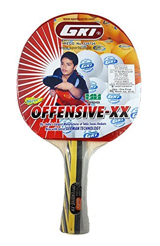 GKI Offensive XX New Computerised Printed Cover Wooden Table Tennis Racquet