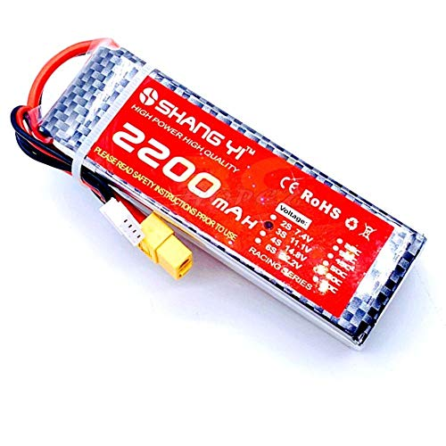 ELBOTICS 3S 11.1V 2200mAh 35C LiPo Battery Pack with T Plug for RC Evader BX Car RC Truck RC Truggy RC Airplane UAV Drone FPV Alternative Energy Electronic Hobby Kit Pack of 1