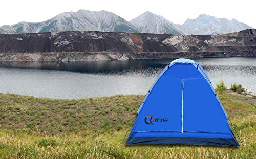 QLine Polyester CMP-03 Three People Waterproof Camping Tent, (Multicolour) Quality Assurance