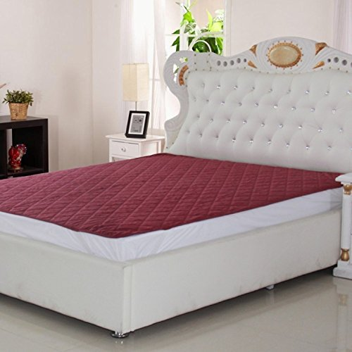 Signature polyester Micro 120 TC Waterproof and Dust Proof Double Bed Mattress Protector (72X78-inch, Maroon)
