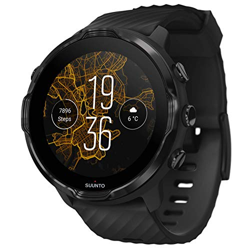 SUUNTO 7 Black, GPS Versatile Sports Watch with Google Wear OS, 24x7 Activity and Sleep Tracking (No-Cost EMI Available)