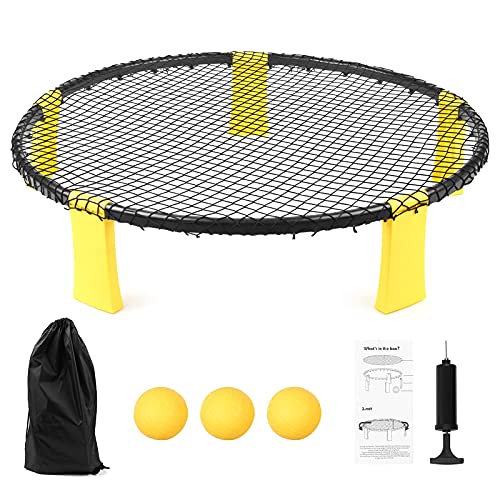 WorldCare® Mini Beach Volleyball Game Set Team Sports Beach Volleyball Net Outdoor Indoor Lawn Yard Beach Tailgate Park for Kids Adults Family-CS-A-307284