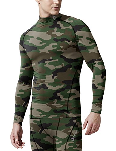 TSLA Men's Cool Dry Fit Long Sleeve Compression Shirts, Active Sports Base Layer T-Shirt, Athletic Workout Shirt, BLM Edition(t11) - Camo Olive, S