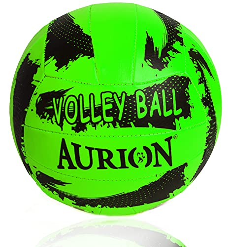 Volleyball Soft Touch Volley Ball Official Size 5 Outdoor Indoor Beach Gym Game Ball New (Light Green)