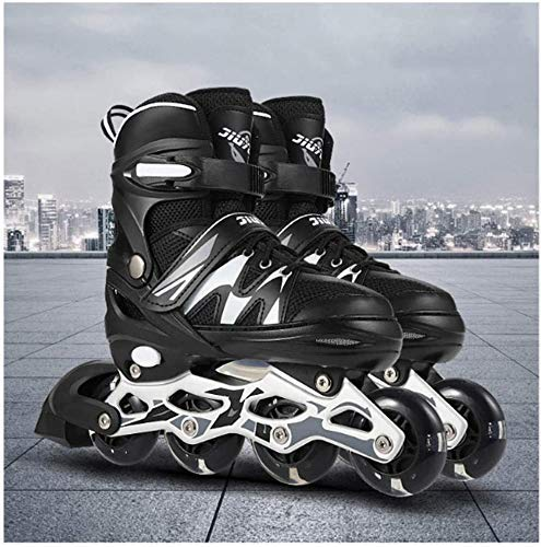 PIKFOS Adjustable Inline Skates,Safe and Durable Rollerblades for Girls and Kids, Fitness Performance Inline Blades Skates,Fashionable Roller Skates for Women, Youth and Adults