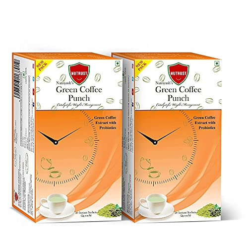 Nutrus Green Coffee 20 Sachets – Pack Of 2 (Instant Powder Form For Weight Loss)