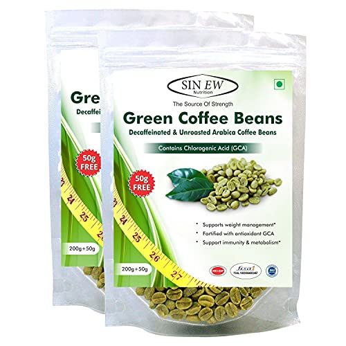 Sinew Nutrition Green Coffee Beans 400g+ 100g Free (250 g x 2 P) Green Coffee for Weight Loss