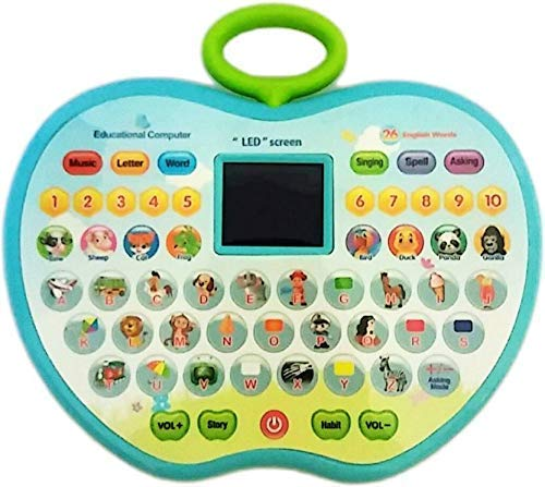 Super Toy Educational Computer Abc 123 Learning Kids Laptop With Led Display And Music (With Battery)Multicolor