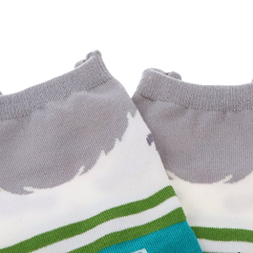 HEAVY DRIVER® Couple Pure Cotton Coloured Mid Calf Ankle Crew Short Socks New Style 4