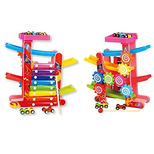 Soni Enterprise Xylophone Gear Gliding Car Ramp Car Race Track with Colorful Xylophone and Gear Toy Race Cars Vehicles Best Gift for Age 1 2 3 Years Old and Up Kid Children