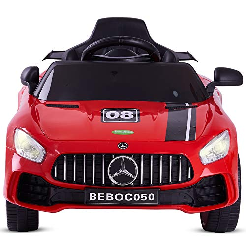 Baybee Spyder Baby Toy Car Rechargeable Battery Operated Ride-On Car for Kids Baby with 6V Motor, Sports Car,Baby Car for Boys & Girls Toys Age 2 to 5 Years (Spyder, Red)