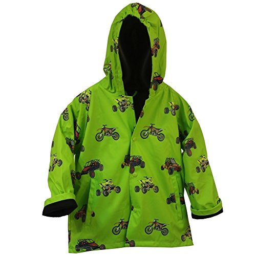 Foxfire for Kids Boys Green ATV and Motorcycle Raincoat Size 4T