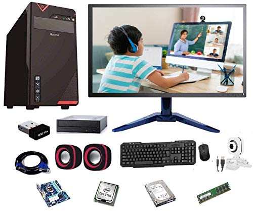 Rolltop® Assembled Desktop Computer,Intel Core 2 Duo 3.0 GHZ Processor,G 41 Motherboard, 17' LED Monitor,4GB RAM, DVD,Windows 7 & Office Trial Version with Web Camera Mic Speaker 500 GB