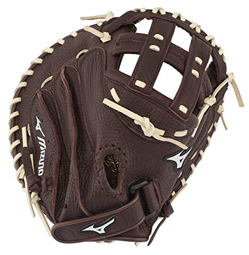Mizuno GXS90F3 Franchise Series Fastpitch Softball Catcher's Mitts, 34', Right Hand Throw