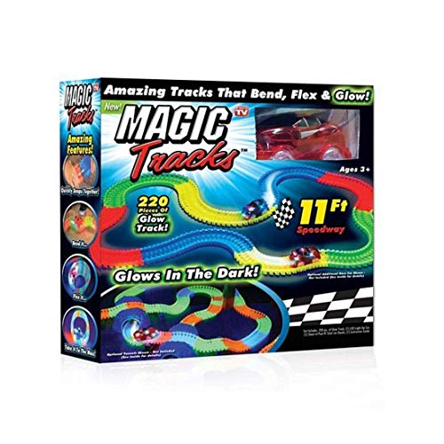 TOYICO!™ Magic Race Tracks Bend Flex and Glow Tracks-220 Pieces Flexible Tracks Toy car for Kids Best Gifts Toys for Kids Boys   Electric Car Toys Kids