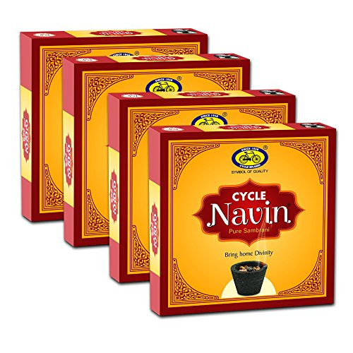 Cycle Navin Cup Sambrani/dhoopam with Resin, Benzoin Fragrances- Pack of 4 (12 Cups per Pack)