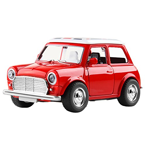 Outgeek Kids Pull Back Car Battery Powered Alloy Pull Back Vehicle Car Toy with Light