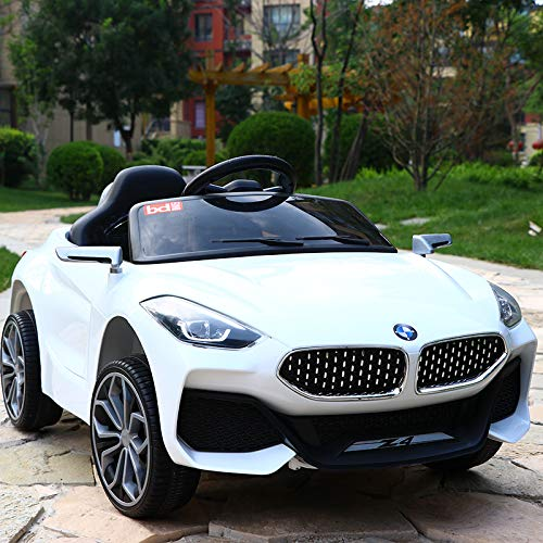 Small Boy Toys Z4 Electric Ride on Car for Kids with Rechargeable 12V Battery, Music, Lights and Swing, Single Seater ( White, 2-7 Years )