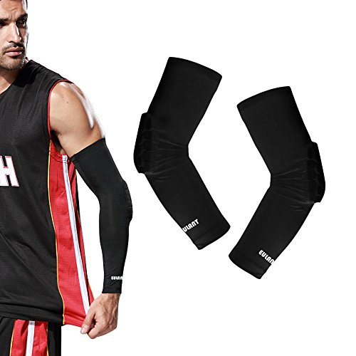 ONT Knee Pads Men Sport Compression Sleeves Elbow Support Women for Basketball Soccer Volleyball Elbow Brace/XL