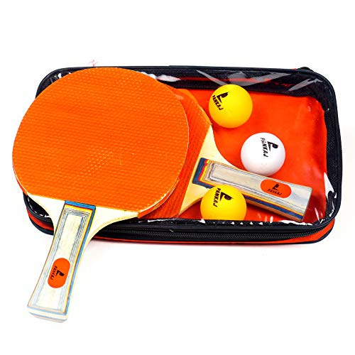 Panko Table Tennis Set -2 Rackets and 3 Balls for Beginners Only