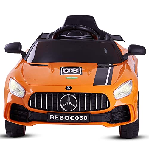 Baybee Spyder Baby Toy Car Rechargeable Battery Operated Ride-On Car for Kids Baby with 6V Motor, Sports Car,Baby Car for Boys & Girls Toys Age 2 to 5 Years (Spyder, Orange)