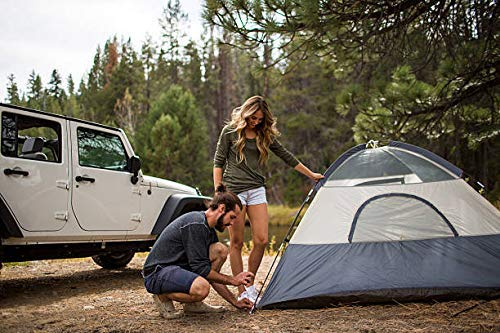AZOD 2/4/6/8 Person Family Camping & Hiking Tent/All Weather Dome Backpacking Tent Outdoor Trekking (Waterproof, with Floor Mat & Net Window)