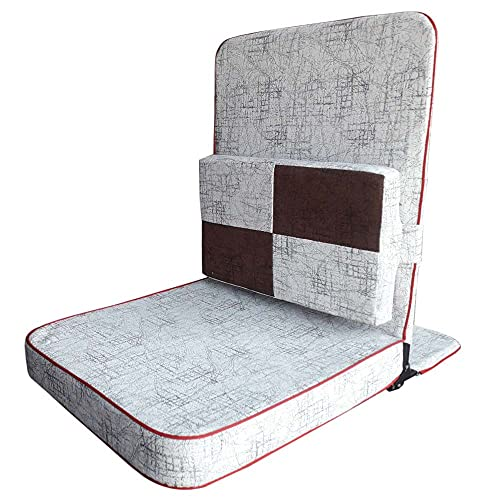 TipTop, Always Knows for quality product at reasonable price Foldable Meditation Chair/Yoga/Relaxing Chairs with Extra Rectangular Cushion Back Support (White, Big Size 20 x 18 x 3 Inch)