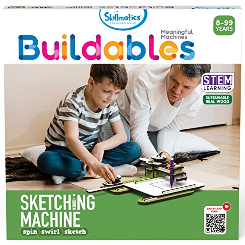 Skillmatics STEM Building Toy : Buildables Sketching Machine | Gifts for Ages 8 and Up | Fun Learning & Creative Activities